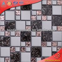 Kitchen Glass Mosaic Picture of Diamond Series Glass Mosaic Tiles (AE16)