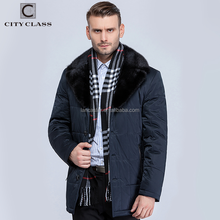 16561 Hot Selling Fashion Warm Man Polyester Winter Jacket Coats High Quality Casual Men Mink Fur Turndown Collar Coat