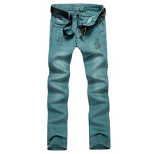 Special Style Hip Hop Rock Revival Damaged Jeans For Men
