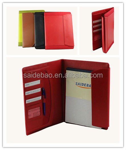Skillful manufacture A4 colorful leather organizer/organiser/Planner, Agenda notebook for best gift