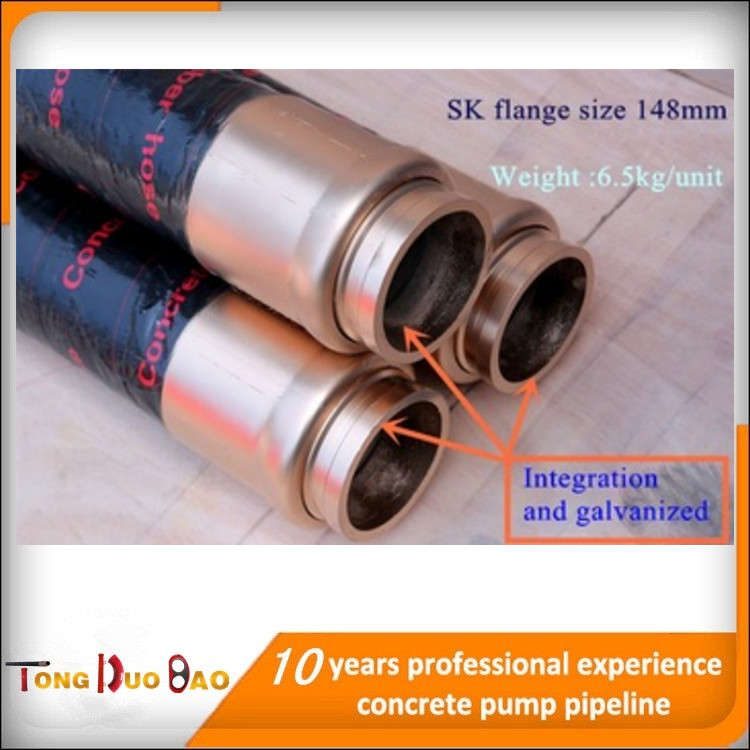 High quality Concrete pump hose rubber tube cinder cement tanker hose