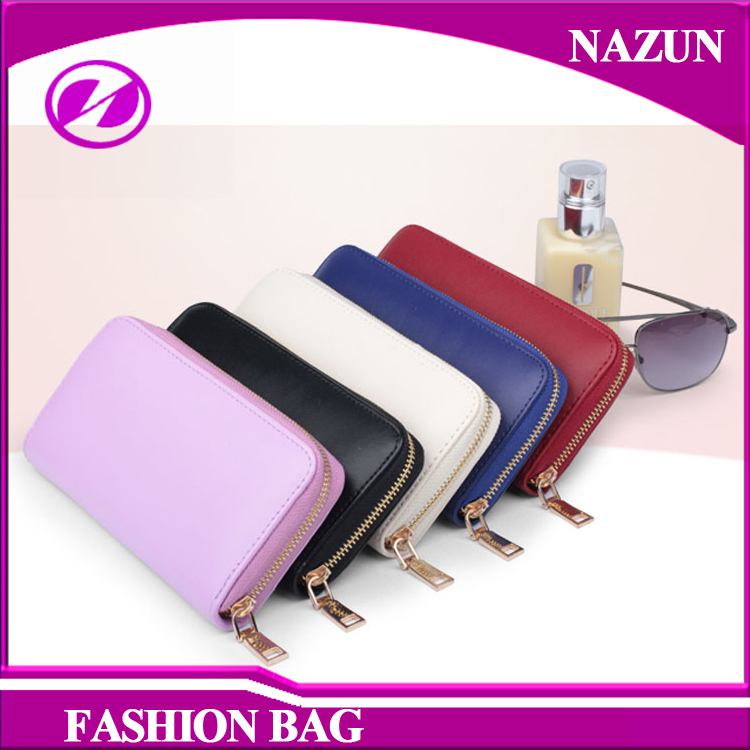 ODM and OEM shopping purse ladies travel bag wholesale cheap office lady leather wallet