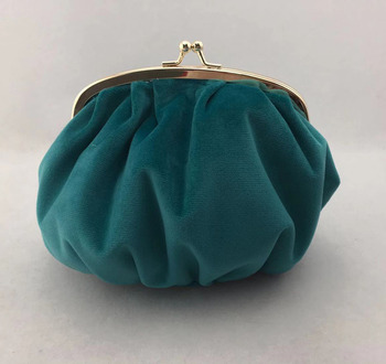 Green Velvet Girls Clutch Coin Purses