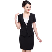Hot selling women's fashion business formal suits with polyester viscose blend fabric