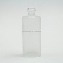 wholesale 60ml frosted rectangle design small liquor beverage bottle