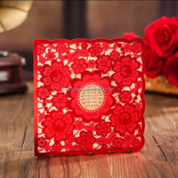 Free sample elegant wedding invitation card, laser cut card cw6057