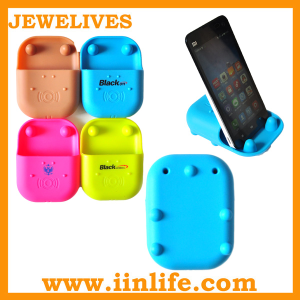 New cute design stand speaker for iphone silicone amplifier