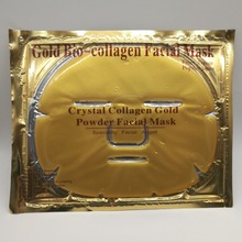 Women beauty products Gold facial mask sheet, gold collagen face mask with CE