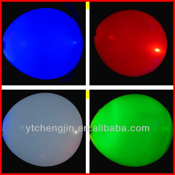 Various colors led glowing latex balloons in stock