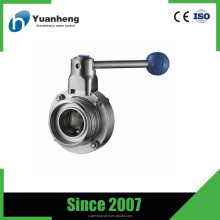 Stainless Steel 316 Sanitary thread butterfly valve