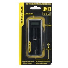 Guaranteed Nitecore UM10 Intelligent LCD Rechargeable 18650 Li-ion USB Battery Charger