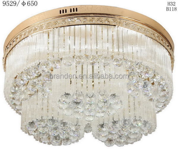 Modern unique crystal ceiling office tube light