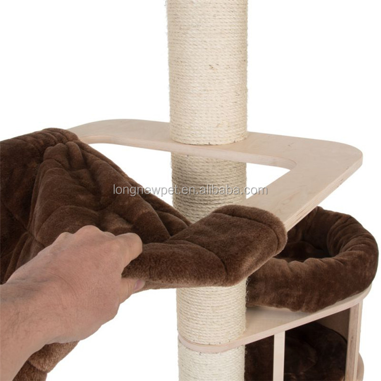 Natural Paradise Cat Tree Condo Tower Cat Furniture for Large Cats Multilayer board Kat Scratching Tree