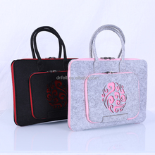 Engraving China Patternwomen bag / felt laptop bag / laptop sleeve for wholesale