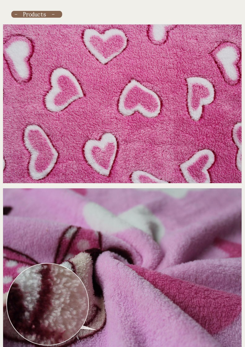 3D Fancy Plush Animal Printed Coral Fleece For Beedsheet