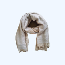 100% Viscose metallic silver lurex long scarf