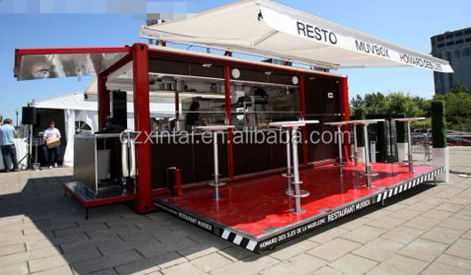 Light steel frame structure complete prefabricated luxury mobile restaurant bar cafe container