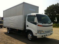 Used 2001 Hino Dutro 3 ton Aluminum Van, Export from Japan