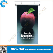 Aluminum display stand hanging scrolling electric roll up banner