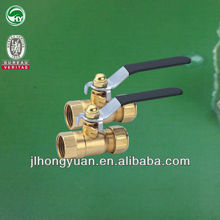 Double brass ball valve with reliable quality and recycle PP-R fittings