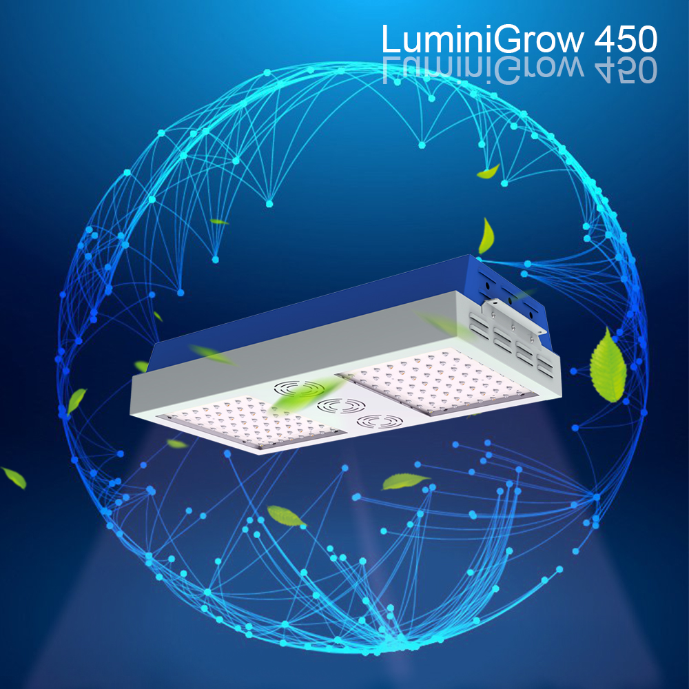 LuminiGrow full spectrum 400w panel led grow for greenhouse herb hydroponic growing lamp