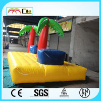 CILE Inflatable Jumping Bed Air Trampoline for Kiddie Bouncing Game