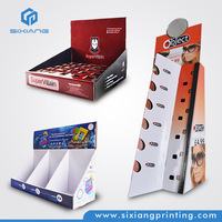 Custom Cardboard iPhone Accessories Display Case,Sunglass Display Stand,Cards and Brochure Paper Display Shelf