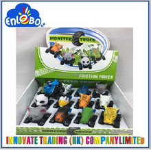 Cartoon zoo animal toys friction cars