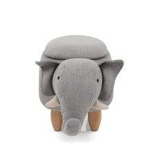 Indoor Ottoman Children Kids Footstool Cute Animal Storage <strong>Furniture</strong>