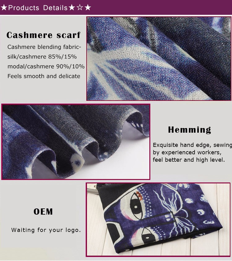 Digital Printed Viscose Scarf rayon scarf / home4