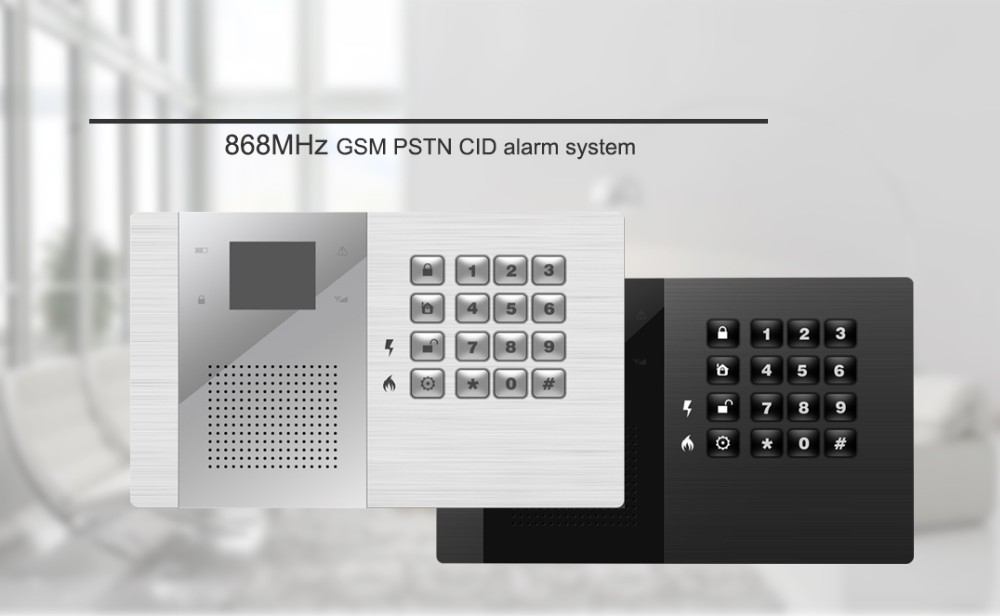 house 868mhz 2/3/4g alarm system gsm rfid wired zones systems