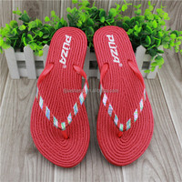 Red color women style pvc strap best slippers