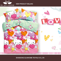 100% cotton 128*68 2015 new design pigment printed baby bedding set