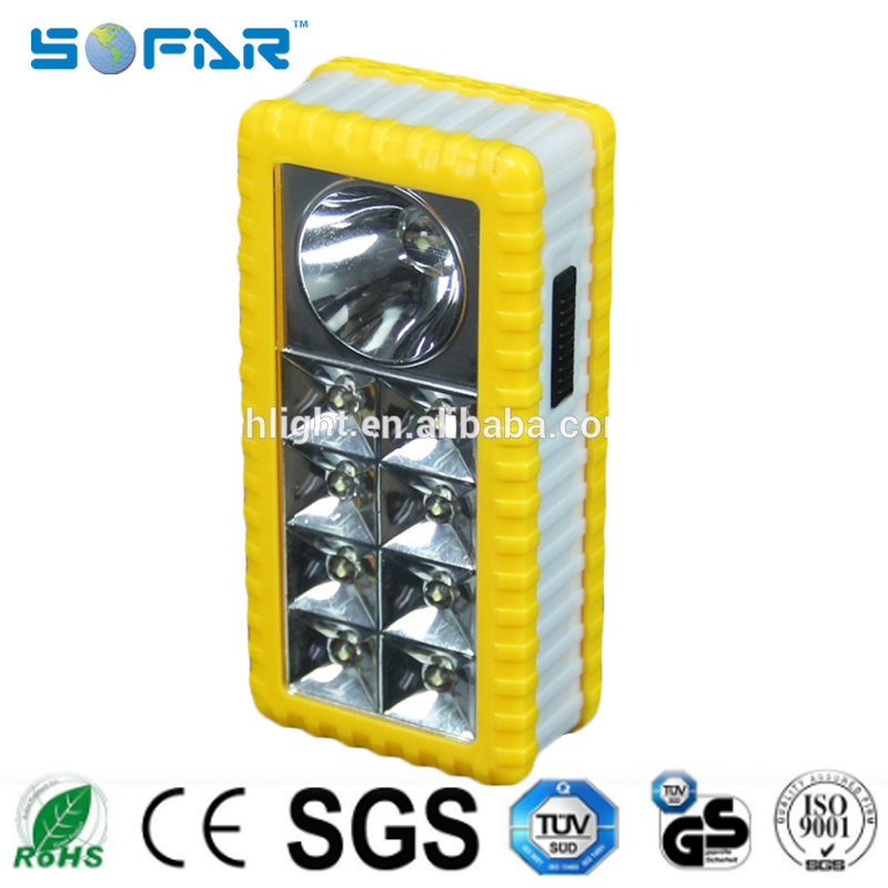 Hotsales AA Dry Battery operated portable led emergency light