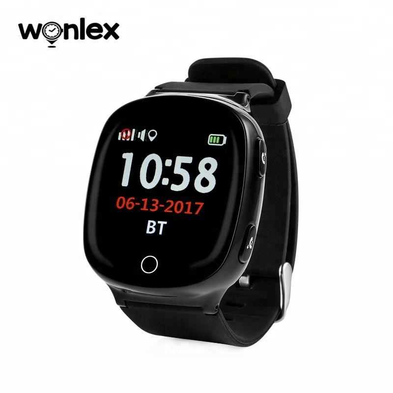 Wonlex 2018 multi-function real location gps smart watch with heart rate monitor