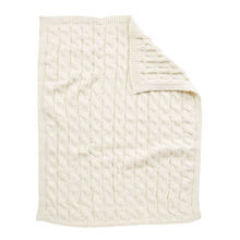 Hot machine wash sofe timeless elegant cotton babys cable throw knit blanket