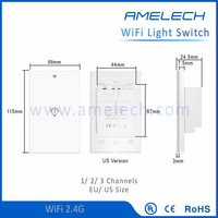 with led backlight indicator built in timer touch sensor remote control light switch