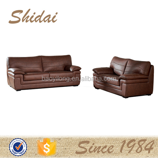 925 Fashion single carved-wood genunie leather sofas