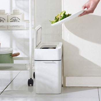 Newly designed multi-purpose plastic trash can with Lid use for home forbathroom