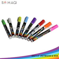 washable marker pen set water based-8 pack 3 mm nib-slogan advertising