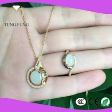 Trade assurance wedding fashion jewelry sets suppplier natural jade wedding fashion jewelry sets made in china