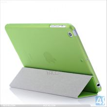 Hard Shell Back Case Smart Cover Partner 3 folding stand leather case for Apple iPad mini 2