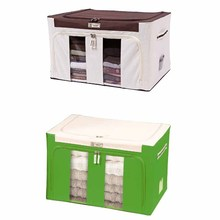 600D oxford waterproof fabric square storage box with steel frame