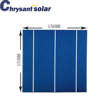 156*153mm Non Standard Polycrystalline Solar Cell 3BB continuous
