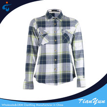 High quality new magic plaid ladies fancy long sleeve shirt