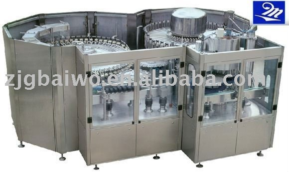 Glass Bottle rinser;filler and capper brewery equipment