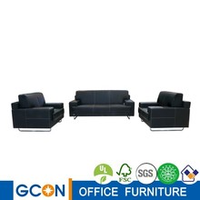 high quality pu/ lether metal frame office sofa set