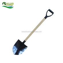 S6366 WITH WOODEN IRON Y GRIP SHOVEL