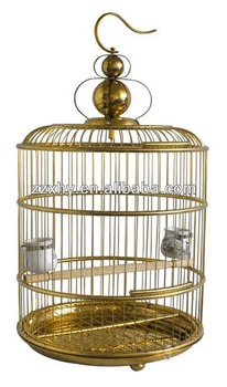 Round Luxury Golden Color bird cage