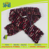 factory wholesale fancy elastic yarn polyester 100% for knitting scarf from China